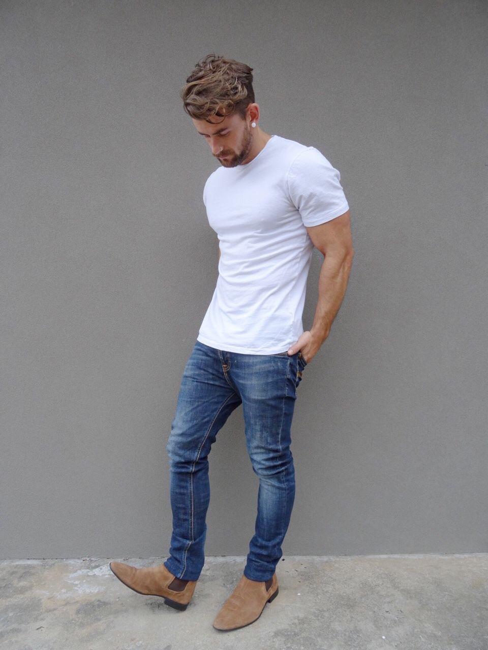 Resultado de imagen de jeans de hombre basicos
